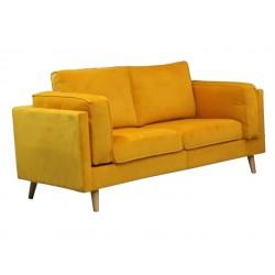 Sofá 2L Veludo Amarelo SD1768