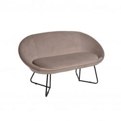Sofa 2 Lug. Veludo Bege IT907