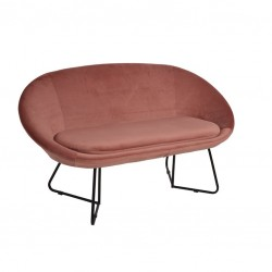 Sofa 2 Lug. Veludo Rosa IT908