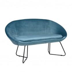 Sofa 2 Lug. Veludo Azul IT911