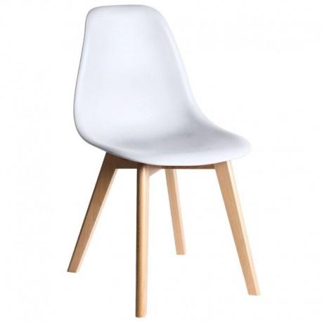 Cadeira madeira, Polipropileno SD1874