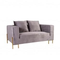 Sofa 2 Lug. Veludo Cinza IT941