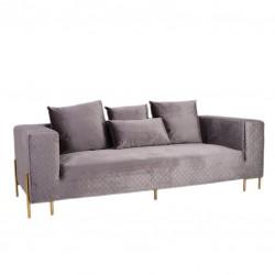 Sofa 3 Lug. Veludo Cinza IT942