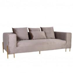 Sofa 3 Lug. Veludo Bege IT944