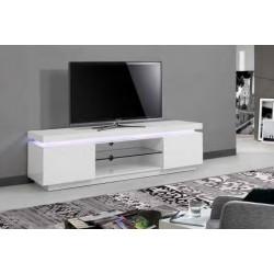 Base TV Lacada Branca c/Leds VT892