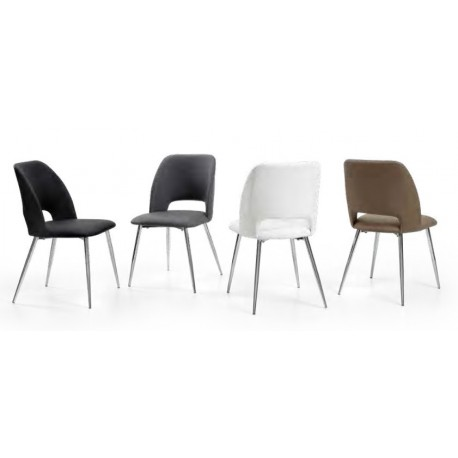 Cadeira cromada+ pele sintética, VT1140