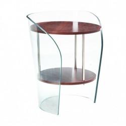 Mesa Apoio , vidro, madeira, SD1909
