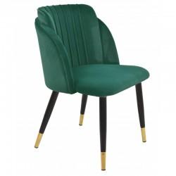 Cadeira metal, veludo verde SD173