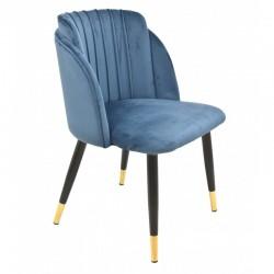 Cadeira metal, veludo rosa SD180