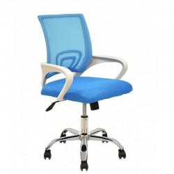 Cadeira Escritório Branco+Azul SD1692