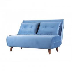 Sofá 2L Veludo Azul SD2071