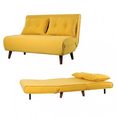 Sofá 2L Tecido Amarelo SD2074