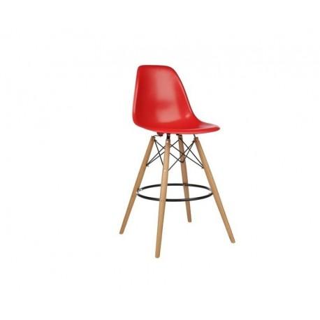 Banco bar madeira, abs vermelho,SD162