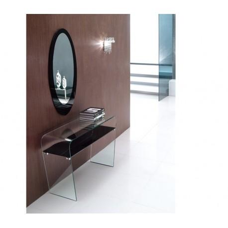 Consola, vidro, + espelho,SD230