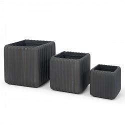 Set 3 Vasos Cinza IT96