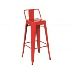Banco bar, aço, vermelho, SD591