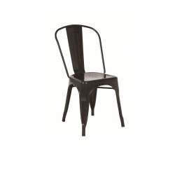 Cadeira aço, preta, SD598