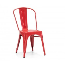 Cadeira aço, vermelho, SD599