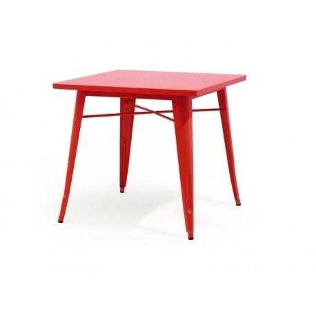 Mesa aço, vermelho, 80x80 cms, SD603