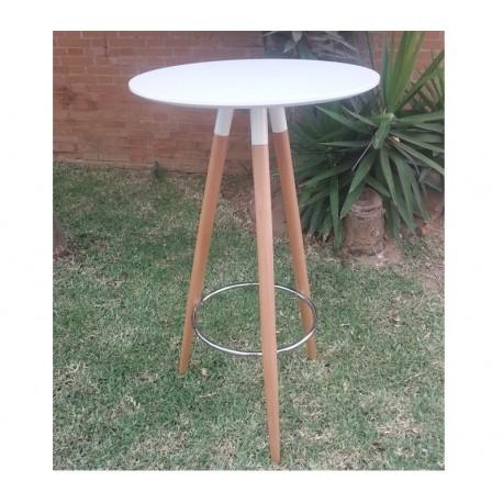 Mesa alta,tampo lacado branco, 60 cms, SD617