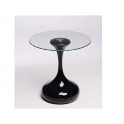 Mesa apoio, preta, vidro, 50 cms, SD645