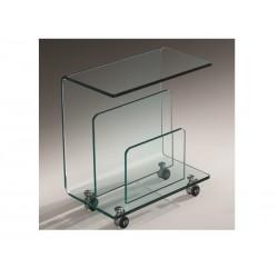 Mesa apoio vidro, rodas, 50x29 cms SD652