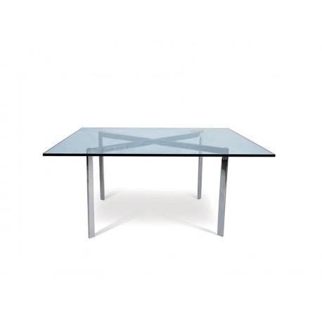 Mesa aço inoxidável, vidro 102 x 102 , SD654