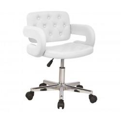 Cadeira escritorio pele sintética branca, SD707