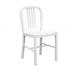 Cadeira aço, branca,SD754