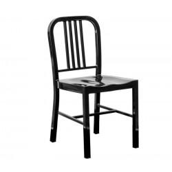 Cadeira aço, preto,SD755