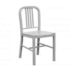 Cadeira aço, cinza prata,SD757