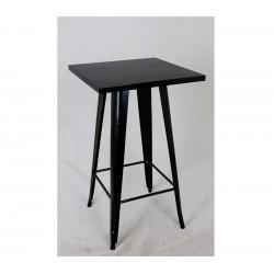 Mesa alta, aço, preta, 60x60 cm,SD823