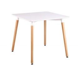 Mesa madeira, tampo branco, 80 x 80, SD871