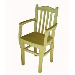Cadeira c/braços madeira SR38