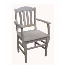 Cadeira c/braços madeira, SR39